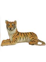 132020 Tiger Figur liegt Lebensgroß