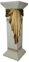 E012 Säule mit goldenen Tuch 80cm