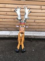 RIB300 Rentier Figur sitzt lustig klein für Weihnachten