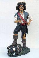 14120 Dekofigur Pirat steht lustig lebensgroß