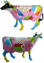 ID002c Kuh Figur lebensgroß abstrakt