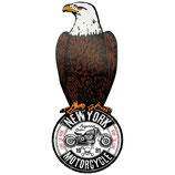 """RIMP122 Blechschild Adler """"New York Motorcycle""""  Gastrodeko"""