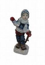 151080 Winterkind Figur Junge mit Lampe