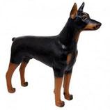 RI032DO Dobermann Hund Figur lebensgroß steht