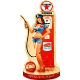 """RIMP127 Blechschild Pin Up """"Gasoline Premium""""  Gastrodeko"""