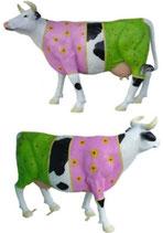 ID002b Kuh Figur lebensgroß rosagrün