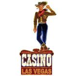 RIMP114 Blechschild Werbeschild Casino Las Vegas Gastrodeko