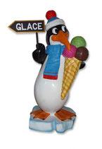Iic002 Pinguin mit Eistüte Figur