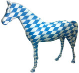 RISAC001 Pferde Figur lebensgroß blau-weiß