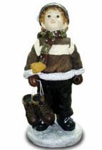 151050 Winterkind Figur Junge auf Schlittschuhen