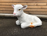 RIB310 Schaf Figur liegt (klein) Deko Garten Tier Werbe Figur