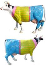 ID002e Kuh Figur lebensgroß Art Jeanshose