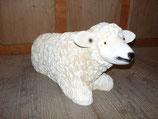 12207 Schaf Figur liegt klein