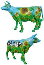 ID002d Kuh Figur lebensgroß Sonnenblume
