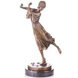 """RIYB575 Art Deco Bronzefigur Tänzerin """"Dancing Girl"""" nach P.Philippe"""