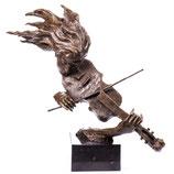 RIYB189 Moderne Bronzefigur Geigerin