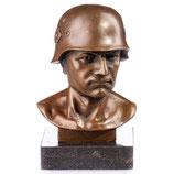 RIYB128 Bronzefigur Soldaten Büste