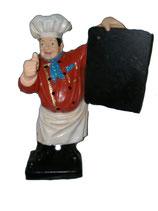 180000 Koch Figur mit Tafel klein