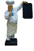 180020 Koch Figur mit Tafel lebensgroß