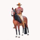 91011 Cowboy auf Pferd Figur lebensgroß