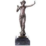 RIBT900 Art Deco Bronzefigur Tänzerin Akt