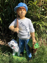 RI5001 Junge Figur mit Westy