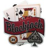 """RIMP119 Blechschild """"Blackjack""""  Gastrodeko"""