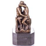 """RIYB544 Impressionistische Bronzefigur """"Der Kuss"""" nach Rodin"""