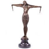 """RIBT673 Bronzefigur Tänzerin """"Scarf Dancer"""" nach D.H.Chiparus"""
