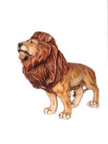 132050 Löwe steht Figur Lebensgroß