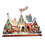RI857990 Spieluhr Häuserfront mit Santa