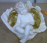 90470 Engel Figur in Muschel