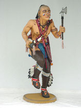 RI1016 Indianer tanzt Figur lebensgroß