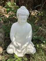 RIEG13C Buddha Figur weiß