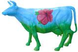 ID002 Kuh Figur lebensgroß bunt mit Blumen