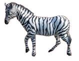 134000 Zebra Figur lebensgroß