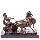 RIYB170 Bronzefigur Römischer Krieger in Streitwagen
