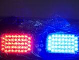 LED ストロボ フラッシュ 青/赤  サンバイザー 取付タイプ