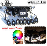 HIGH POWER RGB LED ROCK LIGHT 4pcs/8pcs bluetooth