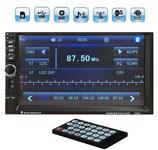 カーオーディオ(FM/AUX/SD/USB/MP3/Bluetooth)2DINタッチパネル