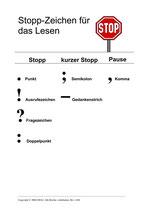 Stopp-Zeichen (A4, laminiert)