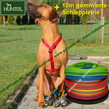 Hunter Y-Geschirr ROT + 10m Schleppleine