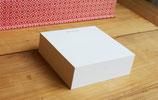 """""""LIEBE GRÜSSE"""" -  3 cm DICKER NOTIZBLOCK - quadratisch klein (8,9 x 8,9 cm)"""