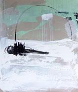 Titel: Serie - Sich seinen Freiraum angeln  (1) - abstraktes Bild - 100 x 120 cm