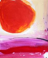 rotes Bild abstrakt gemalt