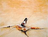 Gedanken ziehen vorbei  - Bild abstrakt beige