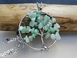 Silberkette mit Aventurin Lebensbaum