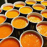 Moro'sche Karottensuppe mit Hühnerbrühe