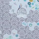 Viskosejersey In the Garden by Bienvenido Colorido - hellblau/grau