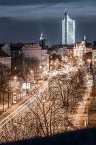 Leinwand: über den Dächern von Leipzig
